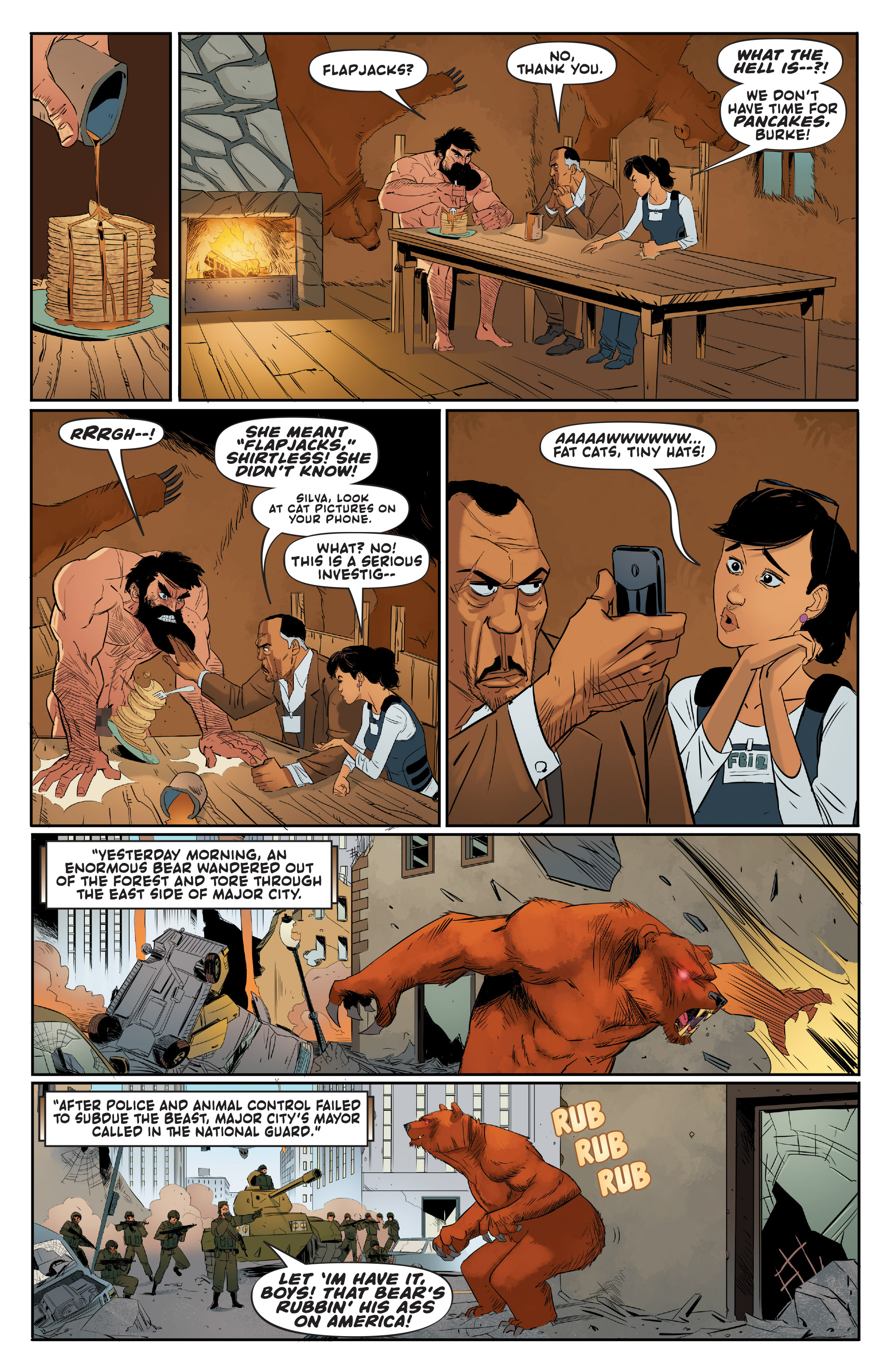 Read online Shirtless Bear-Fighter! comic -  Issue #1 - 13