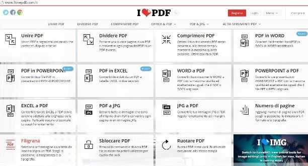 Converti tutti i tuoi file importanti. Tutti gli strumenti che servono per lavorare con i PDF in un unico posto. Veloce e sicuro direttamente in Rete.