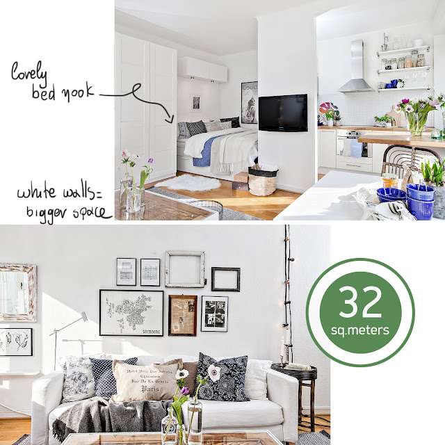 32 sq.m. apartment ideas • the round button blog