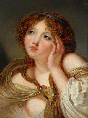 Girl Leaning on Her Hand, Jeanne Philliberte Ledoux