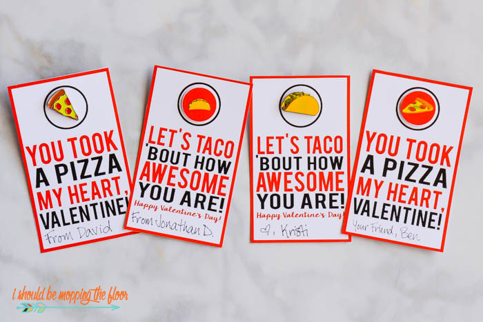 Pizza and Taco Punny Printables