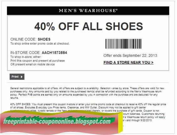 mens wearhouse code