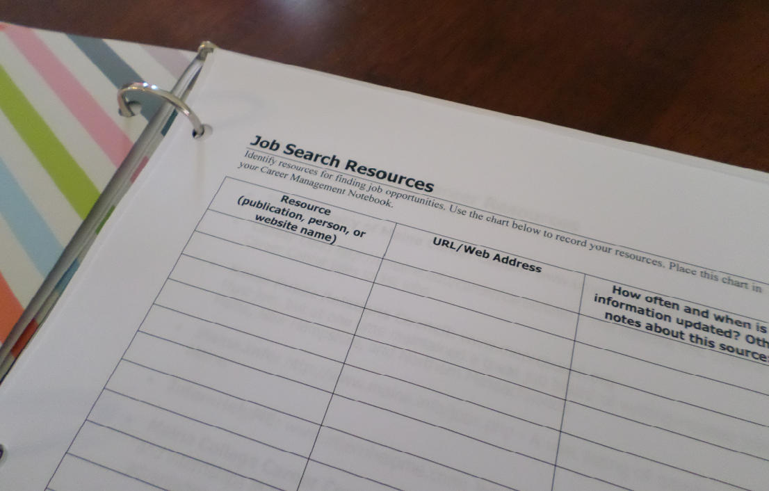 charlsye smith diaz  ph d   how to organize a career management notebook