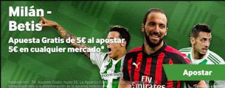 betway promocion Milan vs Betis 25 octubre