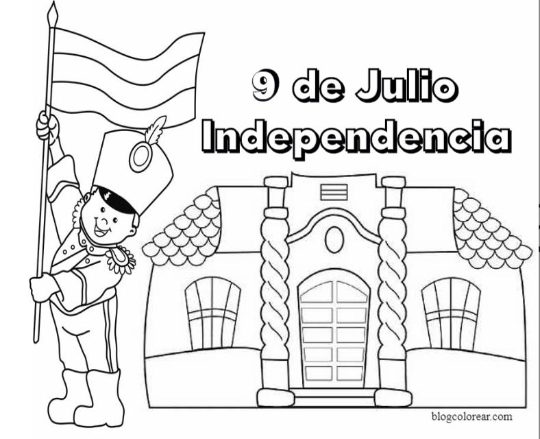 Dibujos Da de la independencia de Argentina  Colorear dibujos