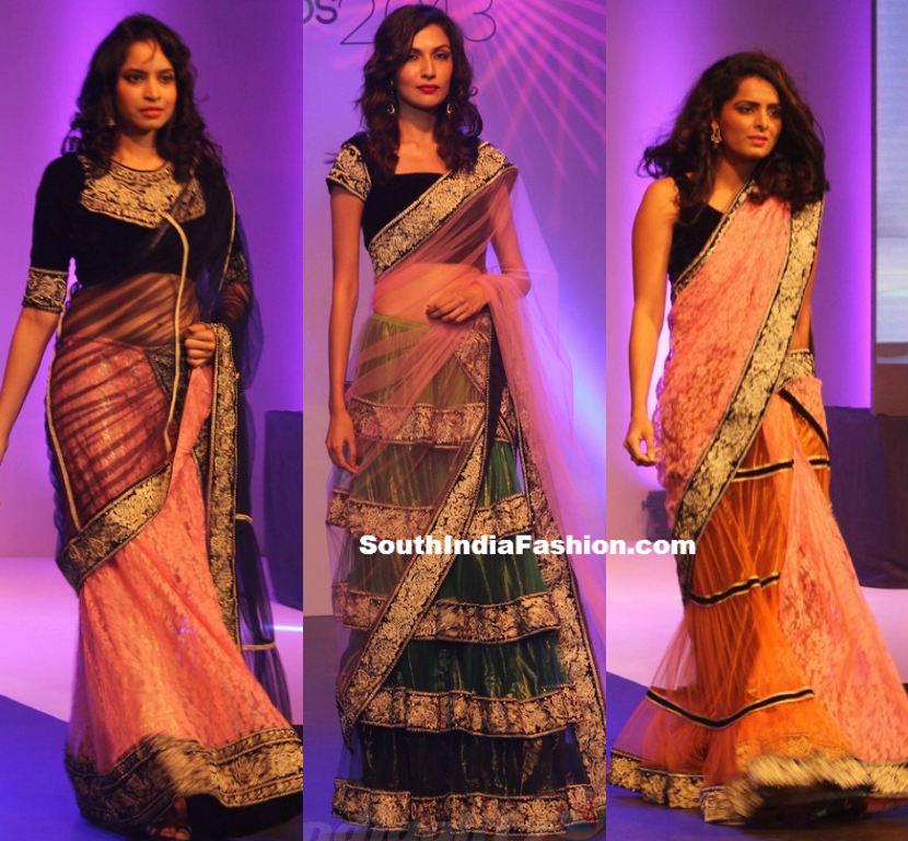 Trendy Designer Half Sarees South India Fashion