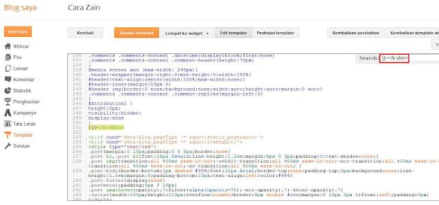 Cara Membuat Efek Zoom Pada Gambar Di Blog Terbaru