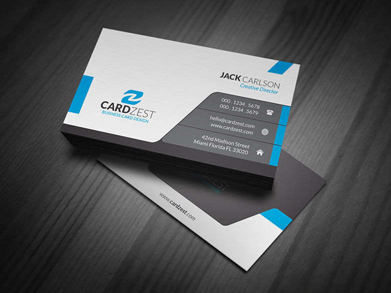 Custom business cards printing design modern sleek professional business card template reheart Image collections