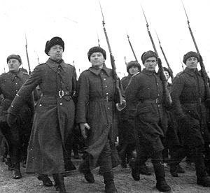 Polish Army parade at Buzułuku - USSR December 1941