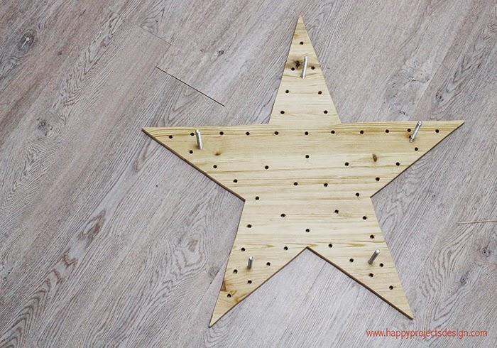 tutorial estrella de luces: agujeros para las luces