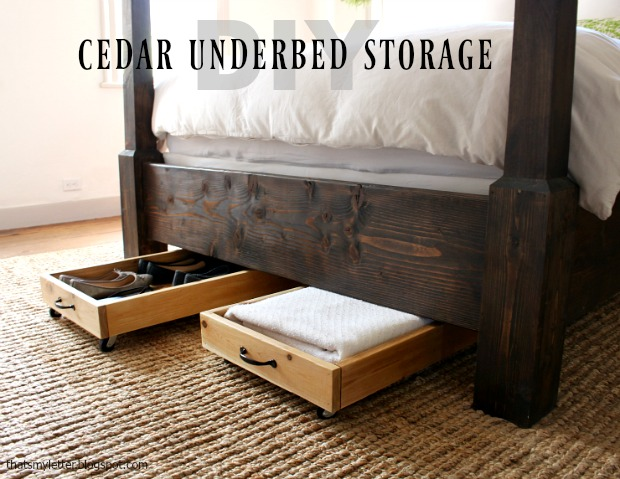 diy cedar underbed storage bins