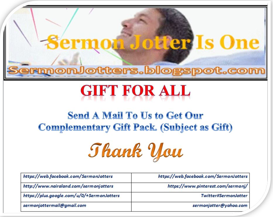 SermonJotter 1st Anniv: Send A Mail To Get Gift Pack