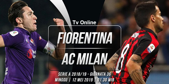 live streaming liga italia fiorentina vs ac milan 12 mei 2019