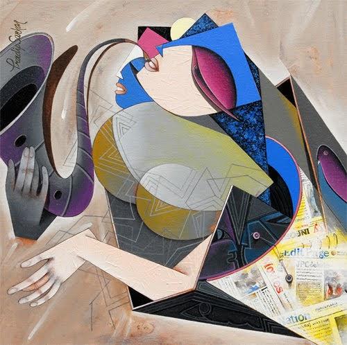 """4th – 15th Mar. 2019: Pradarshak presents ""Flight of Imagination"" Acrylic on Canvas Paintings by Pradip Sarkar"""