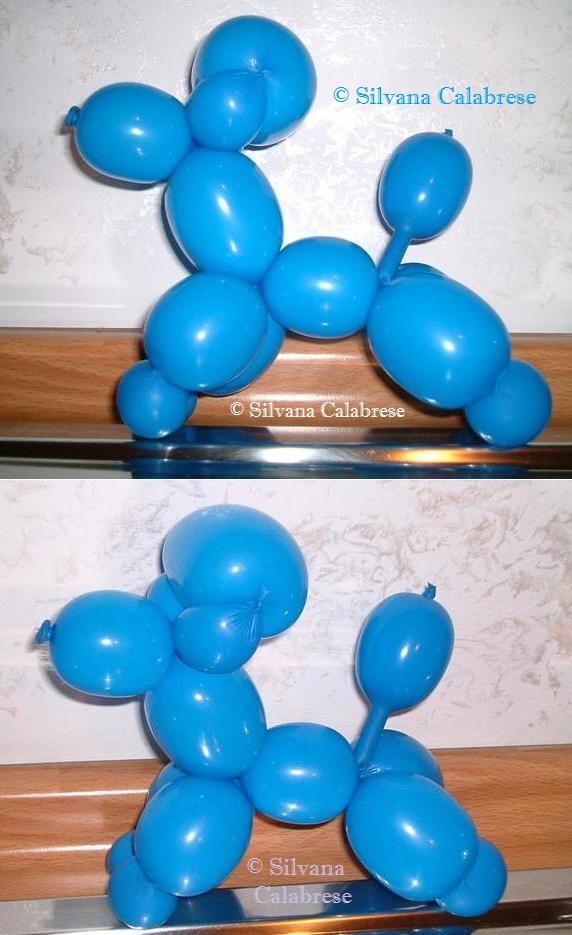 Sculture con i palloncini. Cane, barboncino