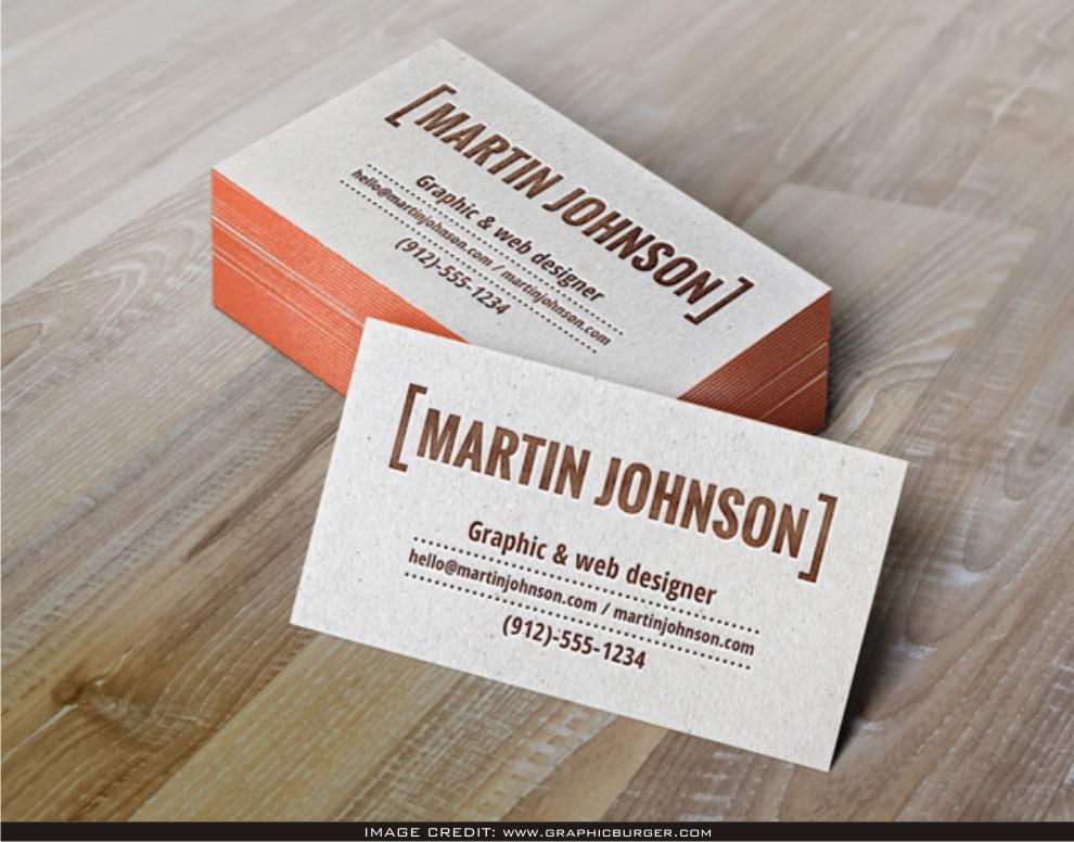 Letterpress Business Cards Mockup Free Download Latest Business