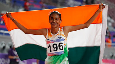 PU Chitra won Gold at the Asian Athletics Championships
