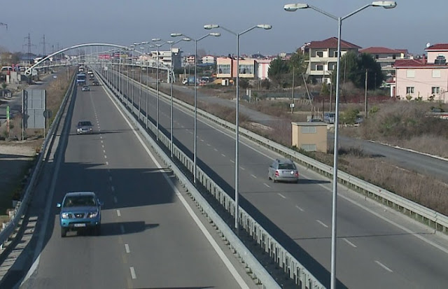 Tirana-Durrës highway with a fee starting from 2-5 euros per entry