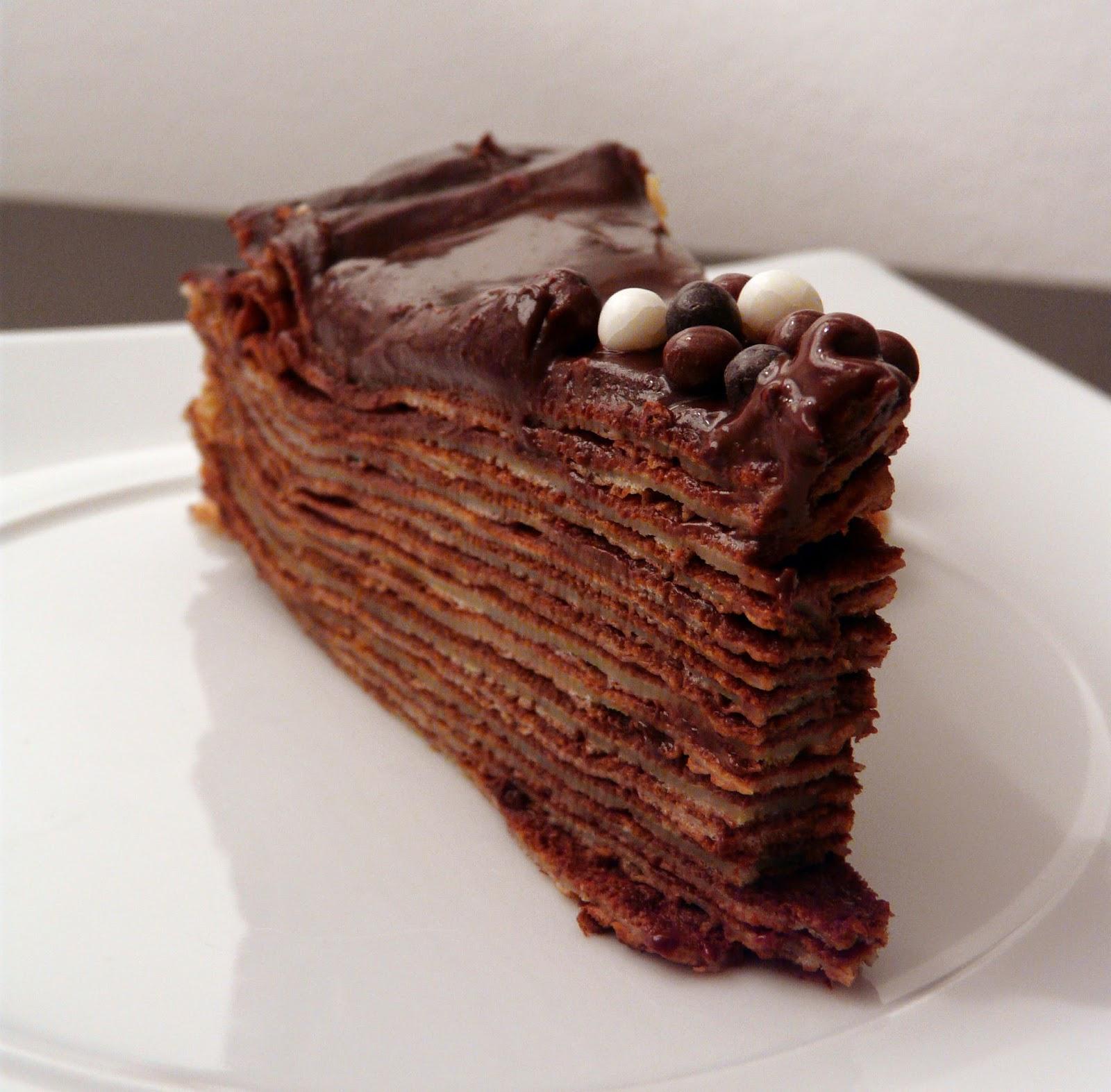 Chocolate Crepes Cake