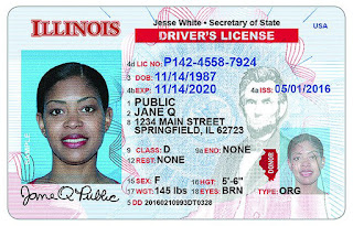 Sample photo of 2018 Illinois Driver's license