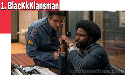 BlacKkKlansman 2018 movie still Spike Lee John David Washington Adam Driver