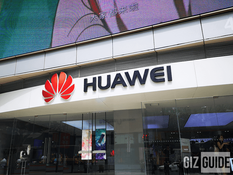 File photo: Huawei's flagship store in Shanghai, China