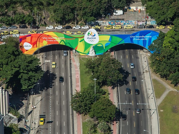 Ligação entre Marina da Glória e Copacabana, Túnel Novo ganha decoração especial para o Rio 2016;