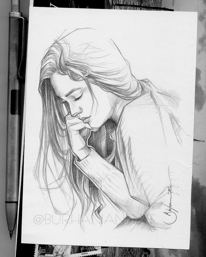 09-Deep-in-thought-Nas-Pencil-Drawings-www-designstack-co
