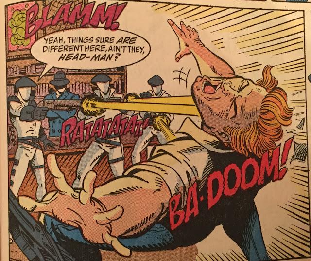 Marvel Comics #123, Headhunters, DEF, Headman, Siegie, Crimson Guard, Broca Beach