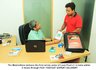India's First Online Order of Lava pixelv1 Delivered within 2 Hours By The MobileStore - FED: FASTEST EXPERT DELIVERY
