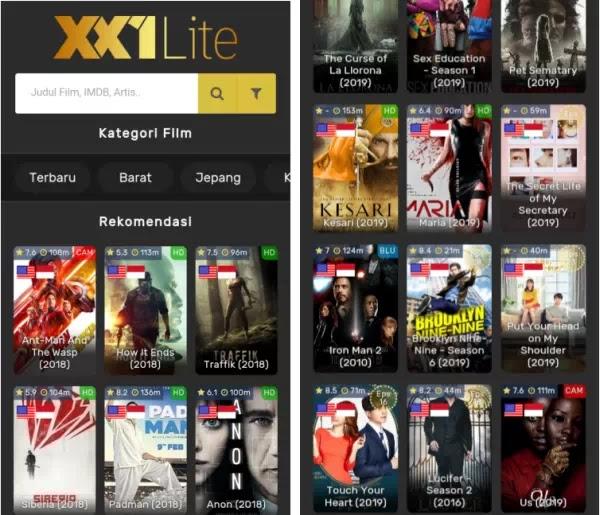 XX1 lite 2.1.4 APK Aplikasi Streaming Film Gratis via HP Android 2