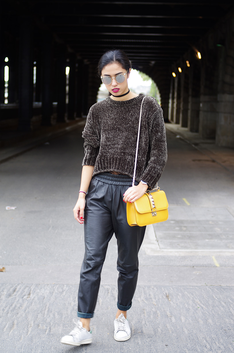 Elizabeth l Velvet lace leather trend outfit l Zara Mango Valentino l THEDEETSONE l http://thedeetsone.blogspot.fr