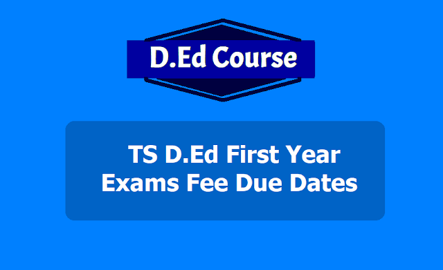 TS D.Ed First Year Exams Fee Due Dates