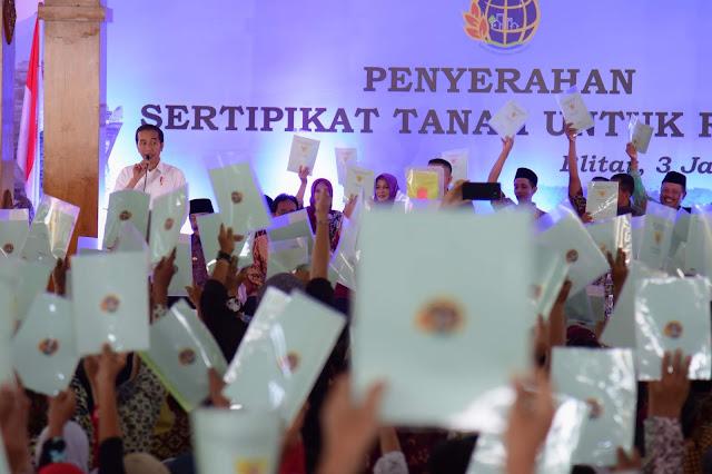 Presiden Jokowi Sebut Sejak 2017 Realisasi Penerbitan Sertifikat Tanah Lebihi Target