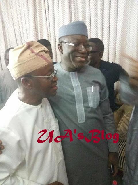 Osun rerun: Aregbesola, Fayemi, APC governors jubilate as Oyetola leads Adeleke [PHOTOS]