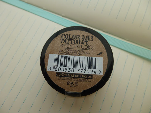 Maybelline 24 Hour Colour Tattoo Cream Eyeshadow In On & On Bronze