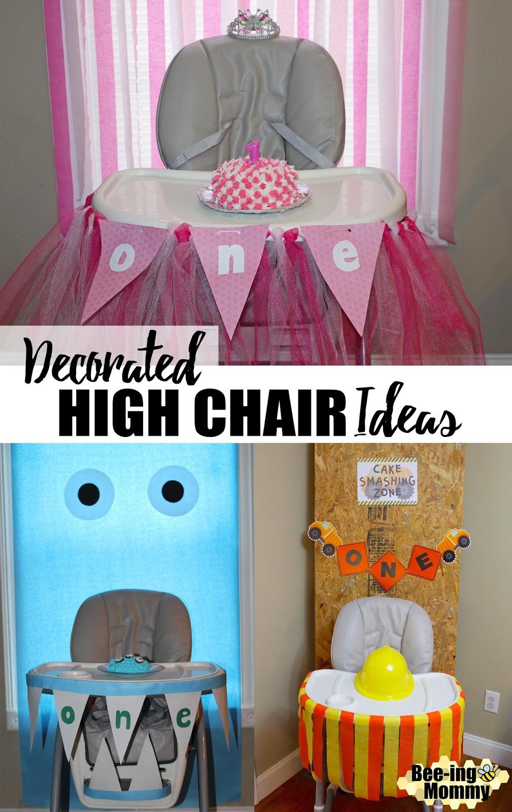 Birthday High Chair Decoration Ideas