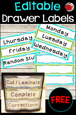 Free editable drawer labels Terri's Teaching Treasures