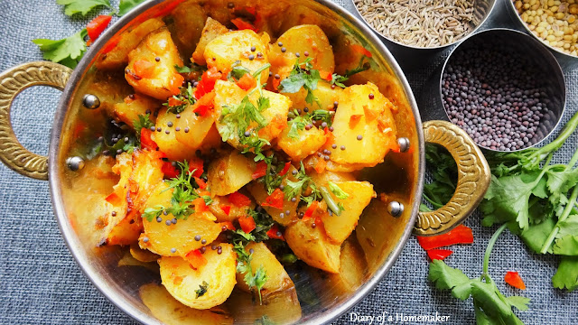 bombay-aloo-Indian-side -dish-vegan-vegetarian-low-fat-healthy-gluten-free-mustard-seeds-asafeotida-coriander-potato-recipes-