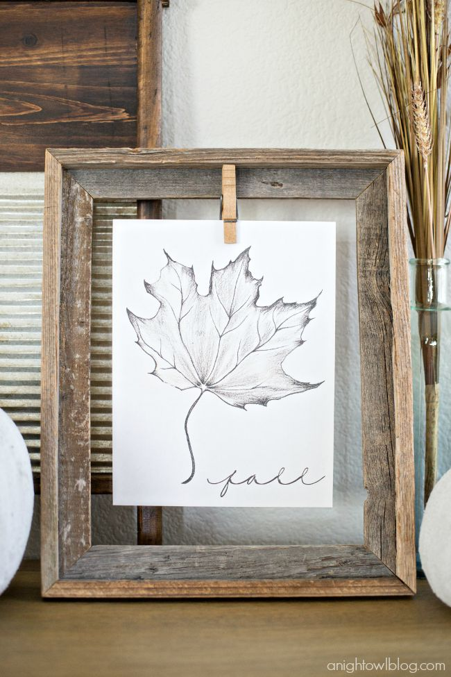 Fall leaf free printable