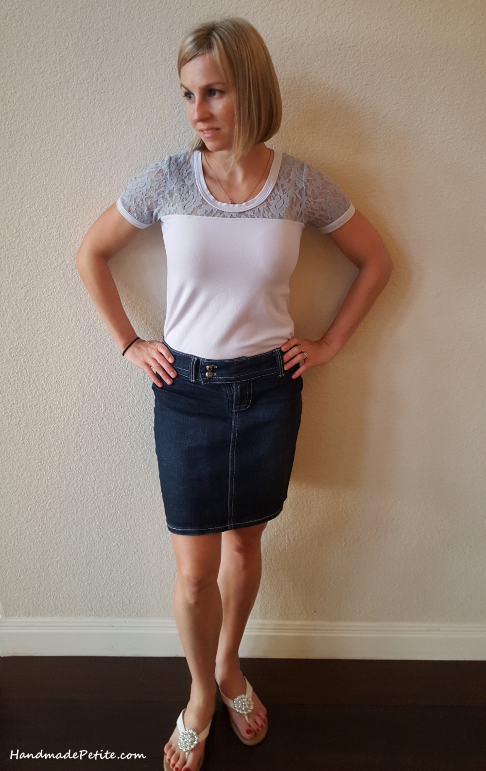 Handmade denim skirt cloned from ready to wear