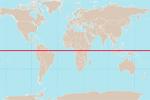 La línea del Ecuador terrestre