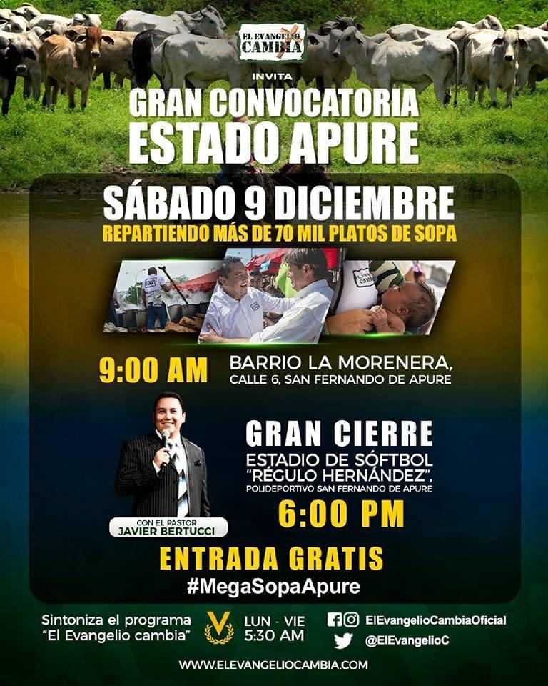 VIDEO: Mega Jornada de Acción Social del Evangelio Cambia para este sábado 09 de diciembre en San Fernando. #Apure.