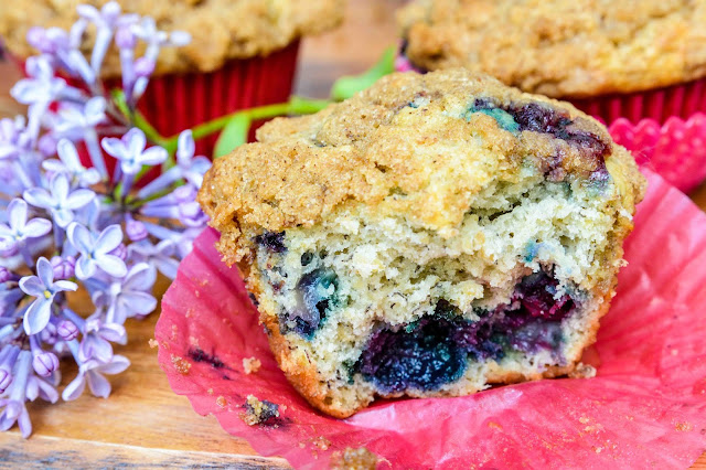 Blueberry Banana Oatbran Muffins
