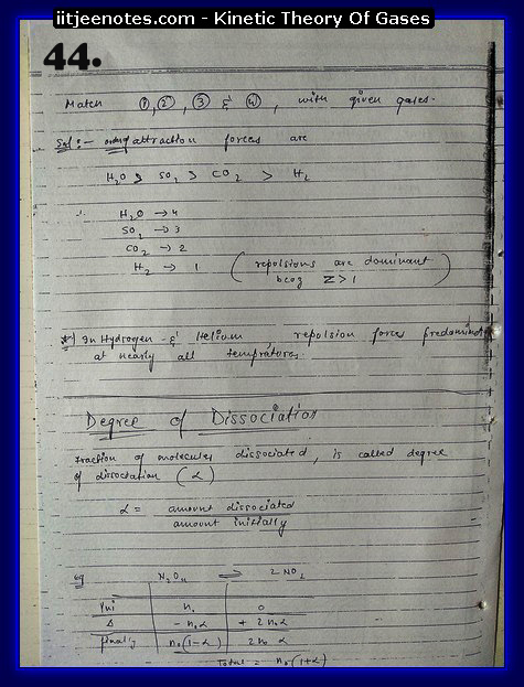 Kinetic Theory Of Gases Notes IITJEE14
