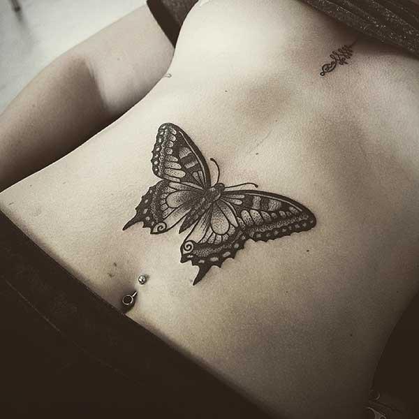 göbek kelebek dövme çeşitleri