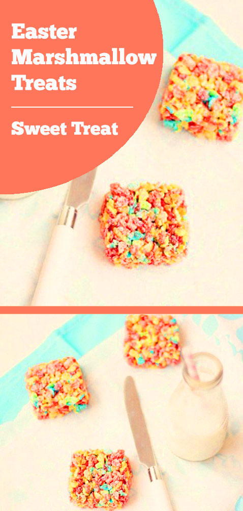 Cute Marshmallow Rice Krispies Easter Treats for Kids – A Fun Snack Idea for Breakfast, lunch, dessert & dinner! An Easter dessert that is fun, easy and delicious. Your family will love this unique Easter treat. Easter party ideas for kids, Easter snacks for kids. #eastertreat #easterdessert #eastersnack #kidssnack #kidstreat #funsnack #sweettreat #ricekrispie #marshmallow #dessert #breakfast #lunch #dinner