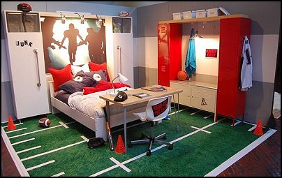 Fun Sports Theme Bedroom Decorating Ideas
