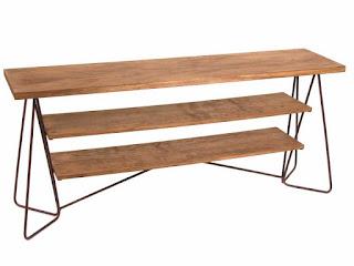 aparador salon metal y madera