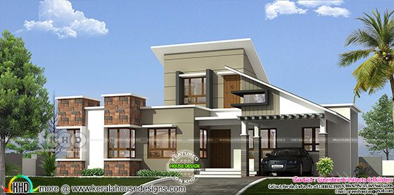 1615 square feet contemporary style one floor Kerala home design